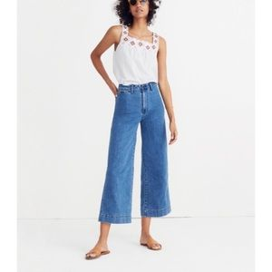 Madewell Emmett Cropped Wide Leg Jeans